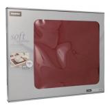 6 x  100 Tischsets, stoffähnlich, Vlies soft selection 30 cm x 40 cm bordeaux
