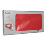 5 x  20 Mitteldecken, stoffähnlich, Vlies soft selection 80 cm x 80 cm rot