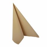 12 x  20 Servietten ROYAL Collection 1/4-Falz 33 cm x 33 cm sand