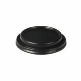 20 x  60 Dom-Deckel, PS rund Ø 8,5 cm · 1,8 cm schwarz Hot & Tasty
