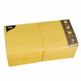 4 x  250 Servietten, 3-lagig 1/4-Falz 40 cm x 40 cm gelb