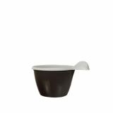 24 x  50 Espressotassen, PS 0,1 l Ø 6,6 cm · 4,5 cm braun/weiss