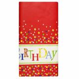 15 x  Tischdecke, Papier 120 cm x 180 cm Happy Birthday