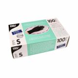 10 x  100 Handschuhe, Nitril puderfrei schwarz Größe S