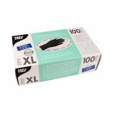 10 x  100 Handschuhe, Nitril puderfrei schwarz Größe XL