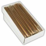 12 x  Leuchterkerze Ø 2,2 cm · 25 cm gold einzeln cellophaniert