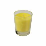 6 x  Glas mit Wachsfüllung Ø 56 mm · 67 mm gelb