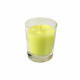 6 x  Glas mit Wachsfüllung Ø 56 mm · 67 mm limonengrün