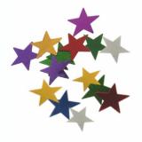 20 x  Deko-Streuschmuck, Folie Ø 2 cm farbig sortiert Stars 20 gr.