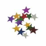 20 x  Deko-Streuschmuck, Folie Ø 1 cm farbig sortiert Stars 20 gr.