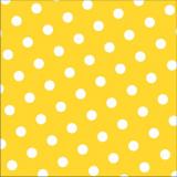 12 x  30 Servietten, 3-lagig 1/4-Falz 33 cm x 33 cm gelb Dots