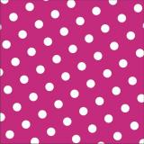 12 x  30 Servietten, 3-lagig 1/4-Falz 33 cm x 33 cm fuchsia Dots