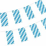 5 x  Flaggenkette, Papier 10 m Bayrisch Blau schwer entflammbar