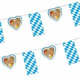 10 x  Flaggenkette, Papier 4 m Gruß vom Oktoberfest