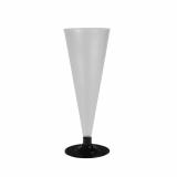 12 x  6 Gläser für Sekt, PS 0,1 l Ø 6,5 cm · 17,7 cm klar satiniert