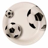 20 x  10 Teller, Pappe rund Ø 23 cm Soccer