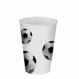 14 x  10 Trinkbecher, Pappe 0,2 l Ø 7 cm · 9,7 cm Soccer