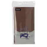10 x  Tischdecke, stoffähnlich, Vlies soft selection 120 cm x 180 cm braun
