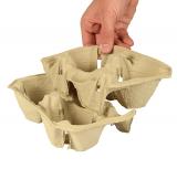 8 x  45 Tragetabletts, Pappe To Go 5 cm x 20 cm x 12 cm Click & Carry für 2 Becher