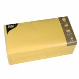 10 x  500 Servietten, 1-lagig 1/4-Falz 33 cm x 33 cm gelb