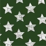 12 x  30 Servietten, 3-lagig 1/4-Falz 33 cm x 33 cm dunkelgrün Vintage Stars