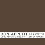 12 x  30 Servietten, 3-lagig 1/4-Falz 33 cm x 33 cm braun Bon Appetit