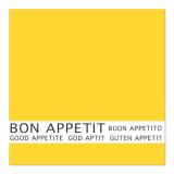 12 x  30 Servietten, 3-lagig 1/4-Falz 33 cm x 33 cm gelb Bon Appetit