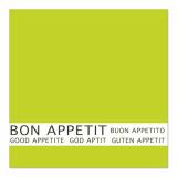 12 x  30 Servietten, 3-lagig 1/4-Falz 33 cm x 33 cm limonengrün Bon Appetit
