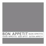 12 x  30 Servietten, 3-lagig 1/4-Falz 33 cm x 33 cm grau Bon Appetit