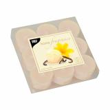 18 x  9 Duftlichte Ø 38 mm · 25 mm creme - Sweet Vanilla in Polycarbonathülle