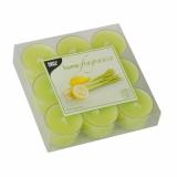 18 x  9 Duftlichte Ø 38 mm · 25 mm hellgrün - Lemongrass in Polycarbonathülle