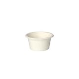 10 x  50 Dressingschalen, Zuckerrohr pure 60 ml Ø 6 cm · 3 cm weiss