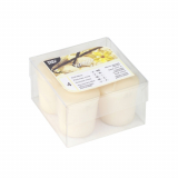 4 x  4 Duft-Minis Ø 45 mm · 52 mm elfenbein - Vanilla