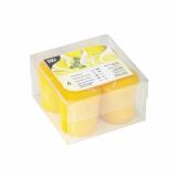 4 x  4 Duft-Minis Ø 45 mm · 52 mm gelb - Citron