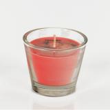 4 x  Glas mit Wachsfüllung Ø 80 mm · 70 mm rot - Strawberry Jumbo