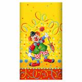15 x  Tischdecke, Papier 120 cm x 180 cm Clown lackiert