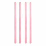 10 x  135 Shake-Halme Ø 8 mm · 25 cm rosa pearly