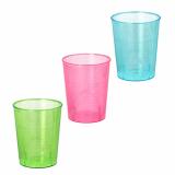 24 x  40 Gläser für Schnaps, PS 4 cl Ø 4,2 cm · 5,2 cm farbig sortiert