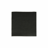 16 x  125 Servietten, 2-lagig PUNTO 1/4-Falz 20 cm x 20 cm schwarz mikrogeprägt
