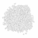 6 x  Deko - Granulat 500 ml weiss 2 - 3 mm