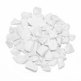 6 x  Deko - Steine 500 ml weiss 9 - 13 mm