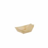 10 x  50 Fingerfood - Schalen, Holz pure 11 cm x 6,5 cm Schiffchen