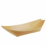 10 x  50 Fingerfood - Schalen, Holz pure 25 cm x 10 cm Schiffchen