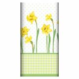 5 x  Tischdecke, stoffähnlich, Airlaid 120 cm x 180 cm Spring Blossoms
