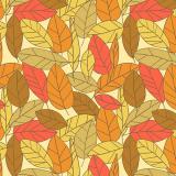 4 x  250 Servietten, 3-lagig 1/4-Falz 33 cm x 33 cm Autumnal