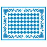 6 x  100 Tischsets, Airlaid 30 cm x 40 cm Bayrisch Blau