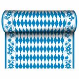 6 x  Tischläufer, stoffähnlich, Airlaid 24 m x 40 cm Bayrisch Blau