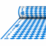 4 x  Tischdecke, stoffähnlich, Airlaid 25 m x 1,18 m Bayrisch Blau
