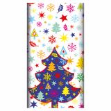 5 x  Tischdecke, stoffähnlich, Airlaid 120 cm x 180 cm Happy Tree