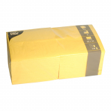 4 x  250 Servietten, 3-lagig 1/8-Falz 33 cm x 33 cm gelb
